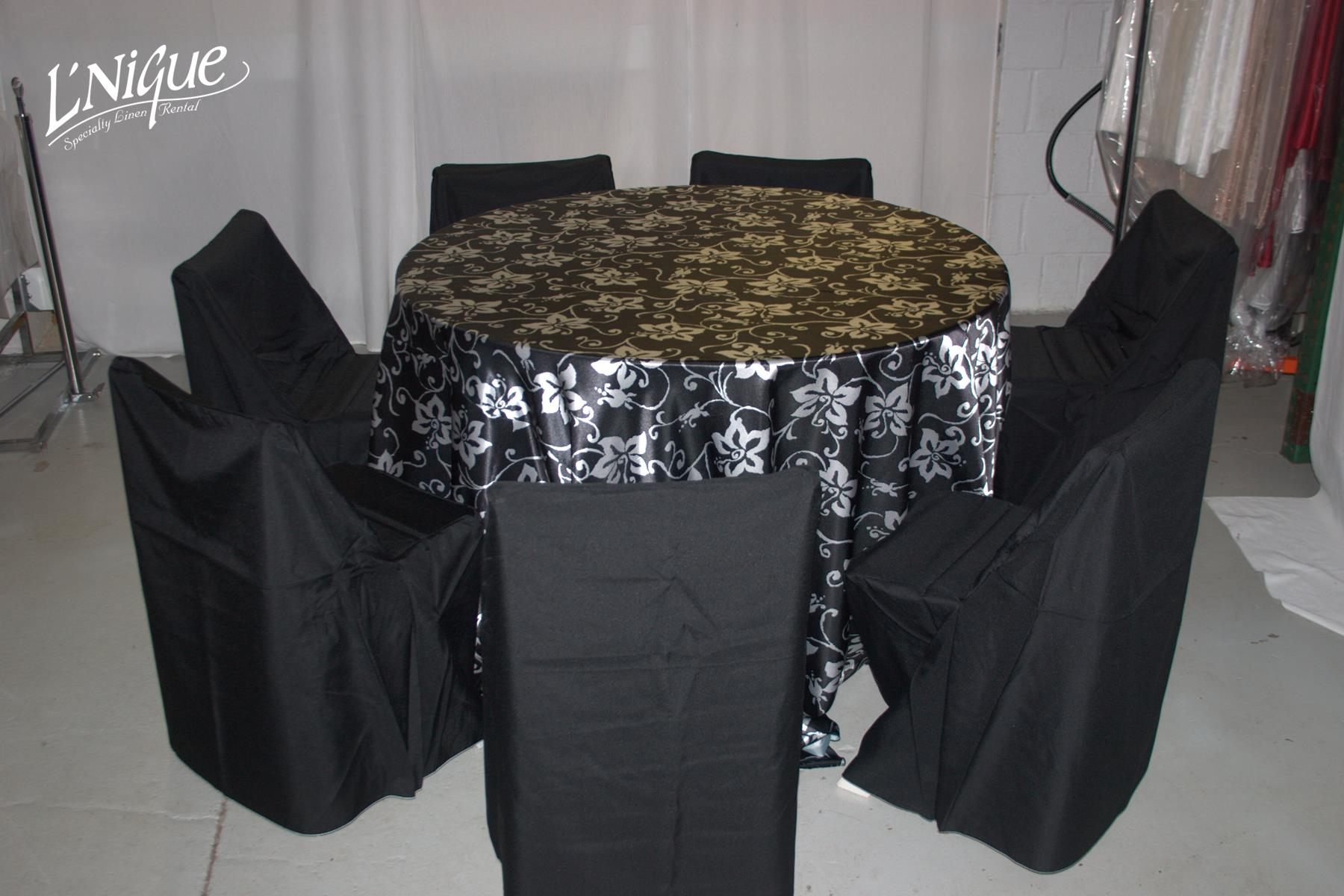 black ruched chair covers boston swivel folding cover specialty linen rental