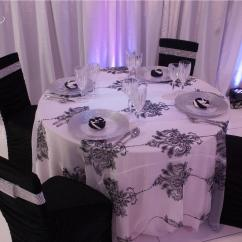 Black Ruched Chair Covers With Table Cloths Cover Over Chiavari Specialty Linen