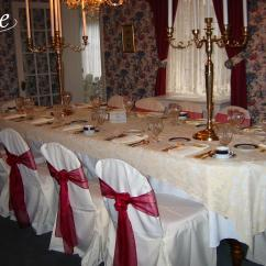 Chair Covers Rental Cleveland Ohio Turquoise Metal Organza Burgundy Sash Specialty Linen