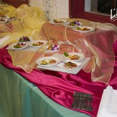 Yellow Spandex Chair Sashes Gel Cushion For Office As Seen On Tv Satin Raspberry Tablecloth - Specialty Linen Rental