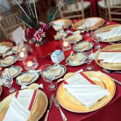 Black Ruched Chair Covers Toddler Desk And Satin Garnet Tablecloth - Specialty Linen Rental