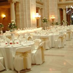 Ivory Ruched Chair Covers Ferrari Scuderia Office Organza Gold Antique Sash - Specialty Linen Rental