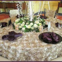 White Ruched Chair Covers Target Beach Chairs Sale Black Charger - Specialty Linen Rental