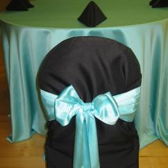 Burlap Chair Sashes Revolving Director Satin Tiffany Blue Tablecloth - Specialty Linen Rental