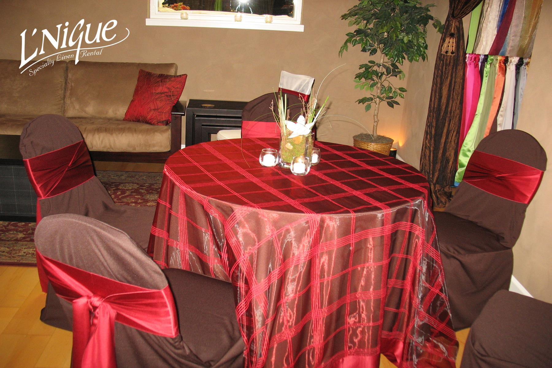 chair covers rental cleveland ohio a chairde brown budget poly tablecloth specialty linen