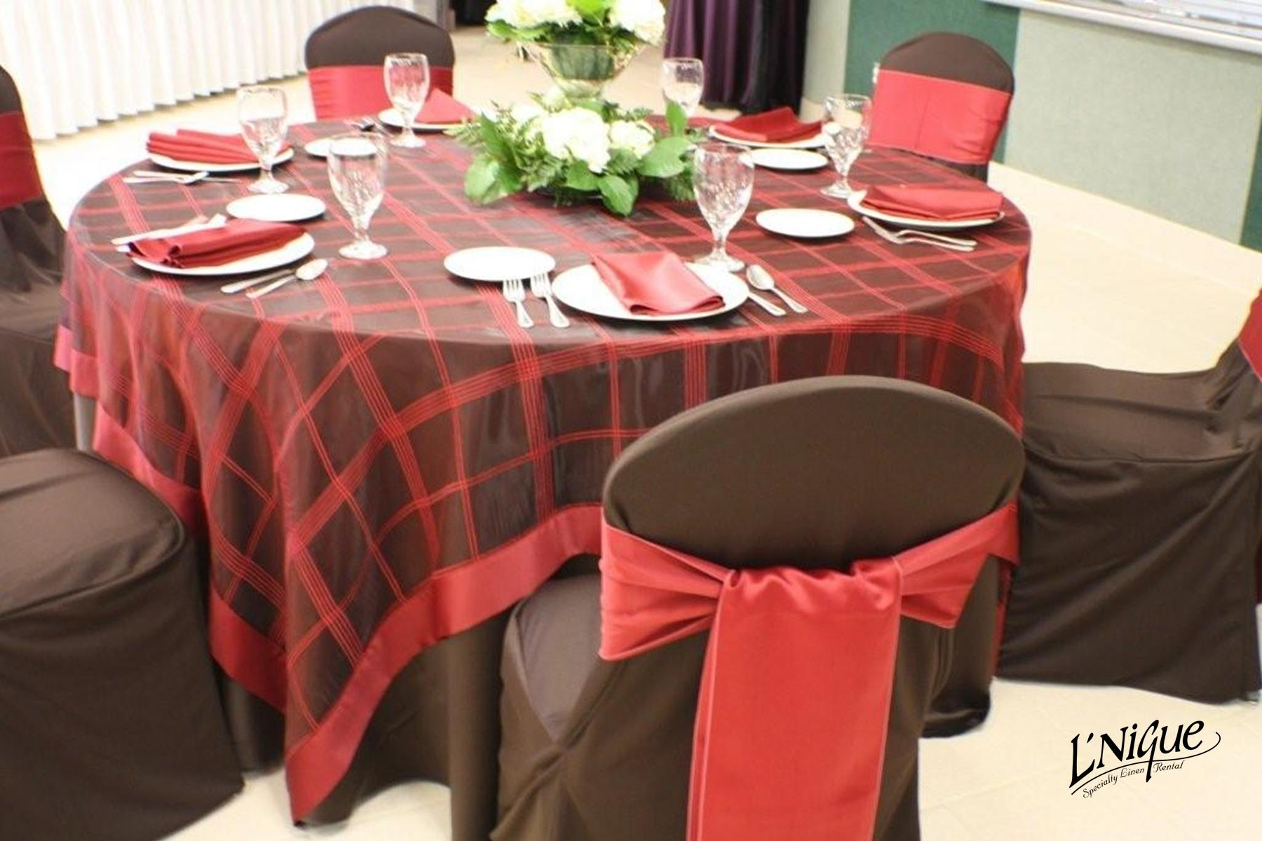 chair covers rental cleveland ohio invisible prank prop brown budget poly tablecloth specialty linen