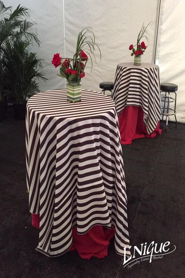 Simple Elegance Tablecloth – Black and White Formal Stripe ...