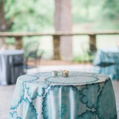 Ruched Chair Covers Used Stressless Barcelona Teal Tablecloth - Specialty Linen Rental