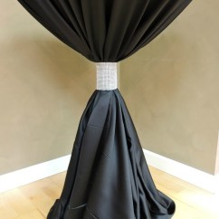 Ivory Satin Chair Covers Unfinished Wooden Chairs Uk Silver Diamond Table Cuff - Specialty Linen Rental
