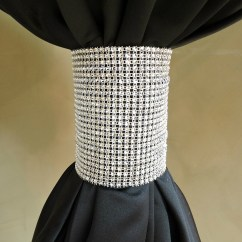 How To Make Chair Sashes Portable Travel High Harness Silver Diamond Table Cuff - Specialty Linen Rental