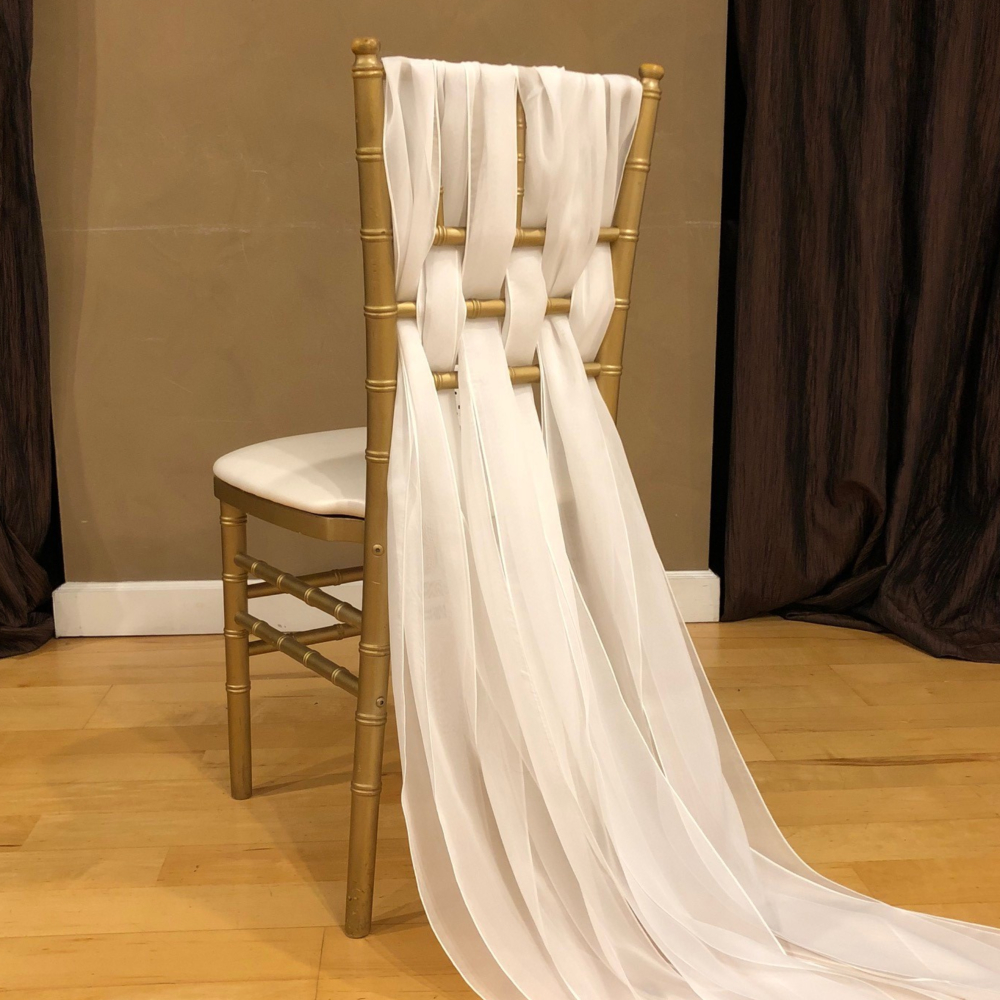 Chiffon Weave Chair Sash  Specialty Linen