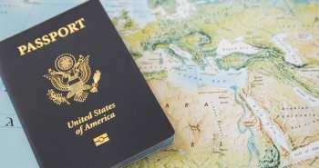 US Passport on the world map