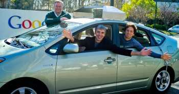 brin, schmidt and page in autonomic car