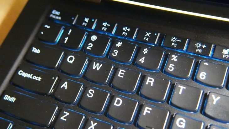 ThinkPad X13 Yoga keyboard