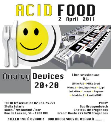 Flyers Acid Food Concept