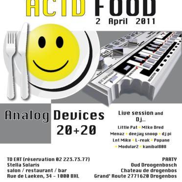 Flyers Acid Food Concept