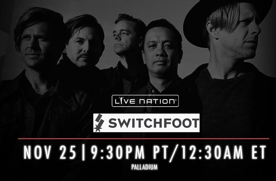 Switchfoot LIVE in concert  LiveNationTv