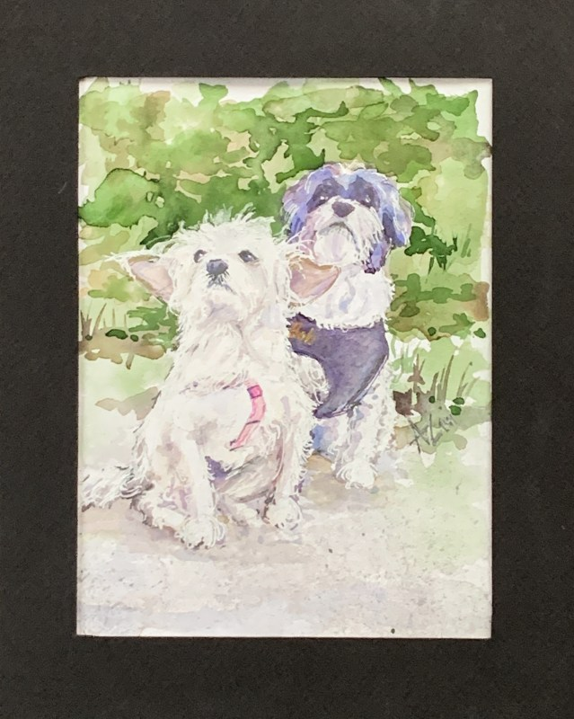 Watercolor Pet Portrait | The Loaded Brush