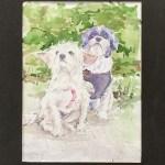 Bob & Lucy   Watercolor Pet Portraits