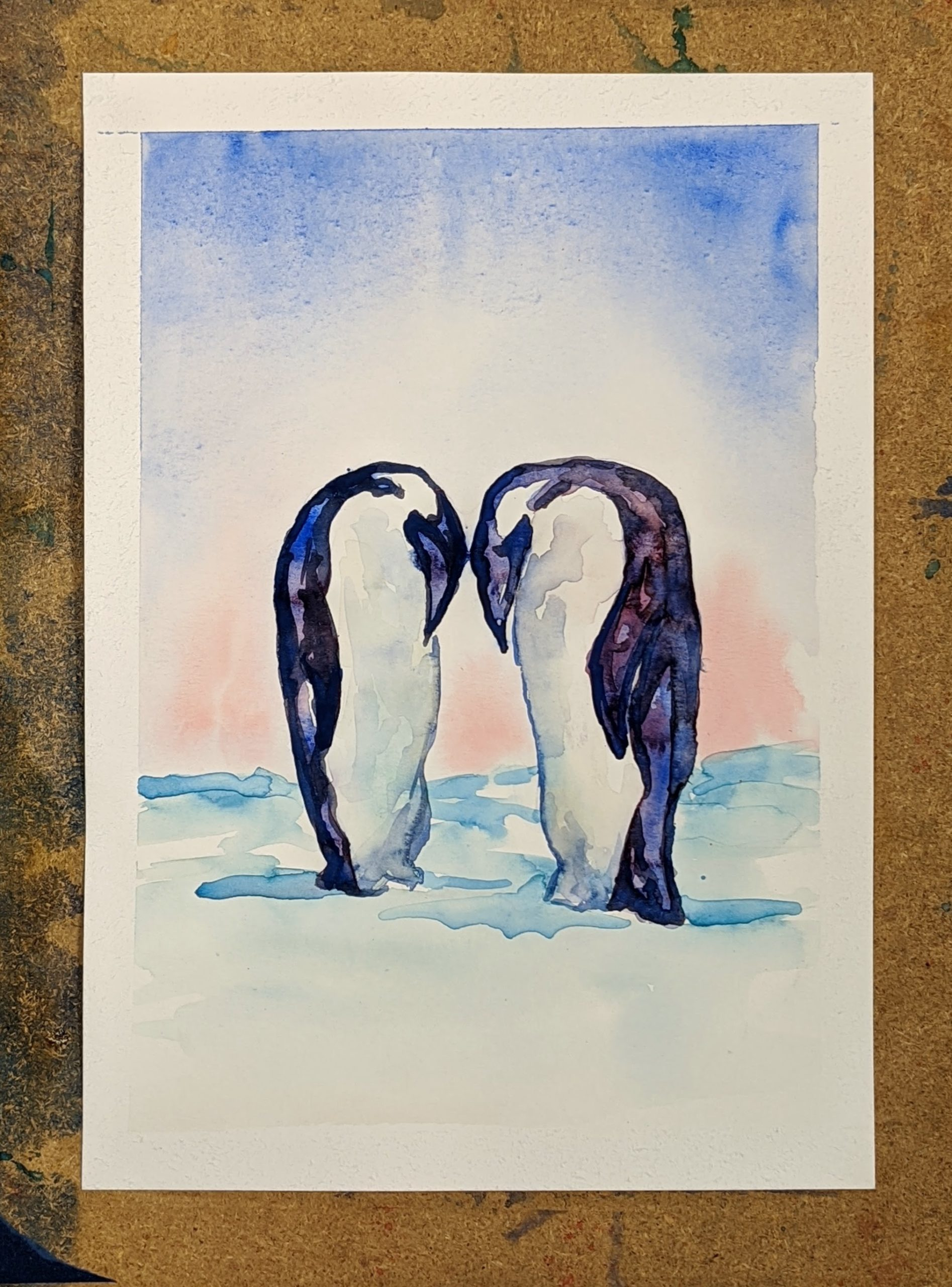 Watercolor Date Night ~ Chillin' With You | The Loaded Brush Paint & Sip Classes | loadedbrushpdx.com