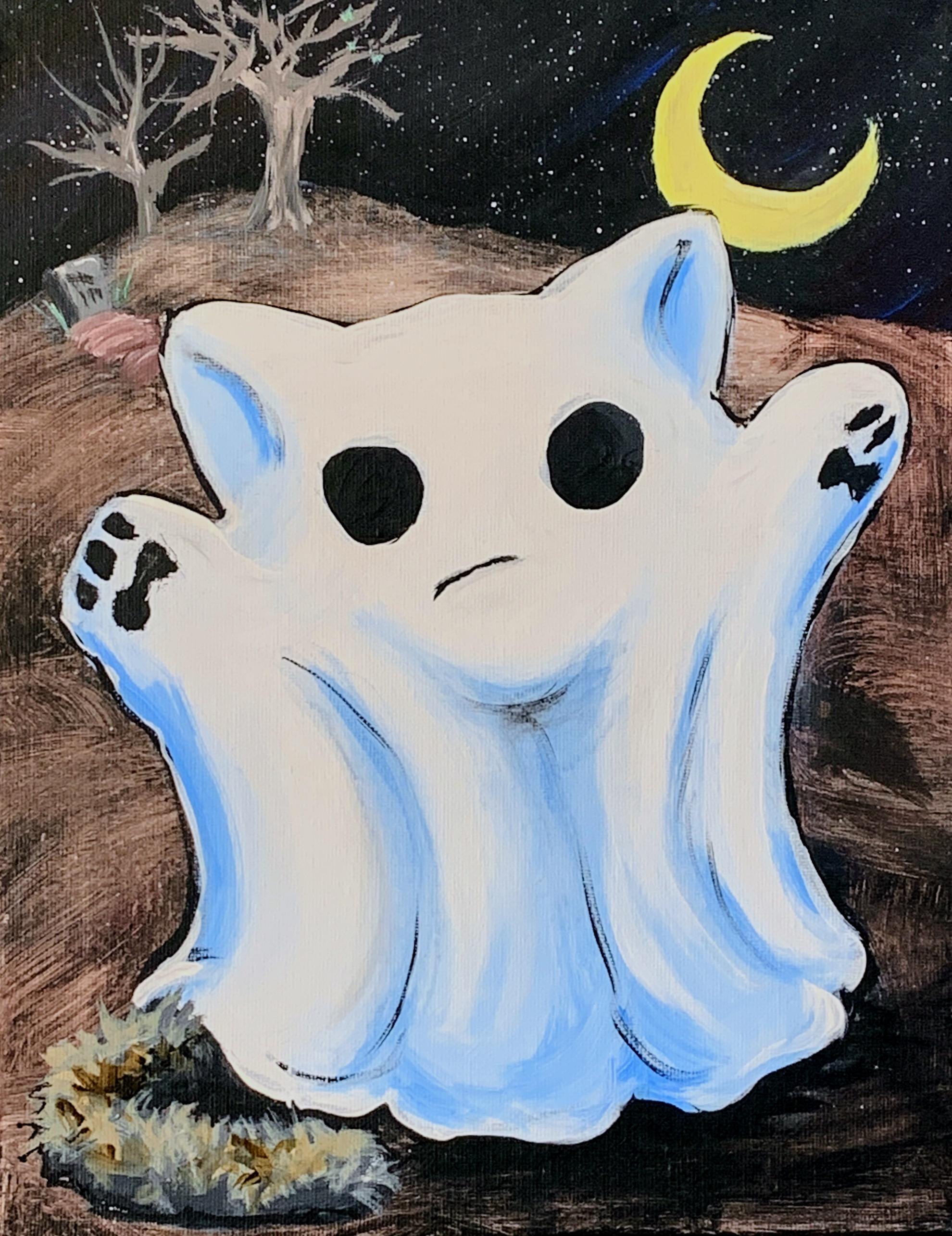 Ghost Cat   www.loadedbrushpdx.com