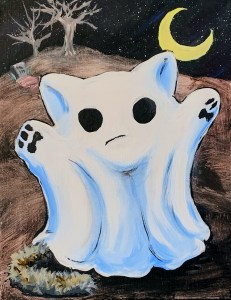 Ghost Cat | www.loadedbrushpdx.com