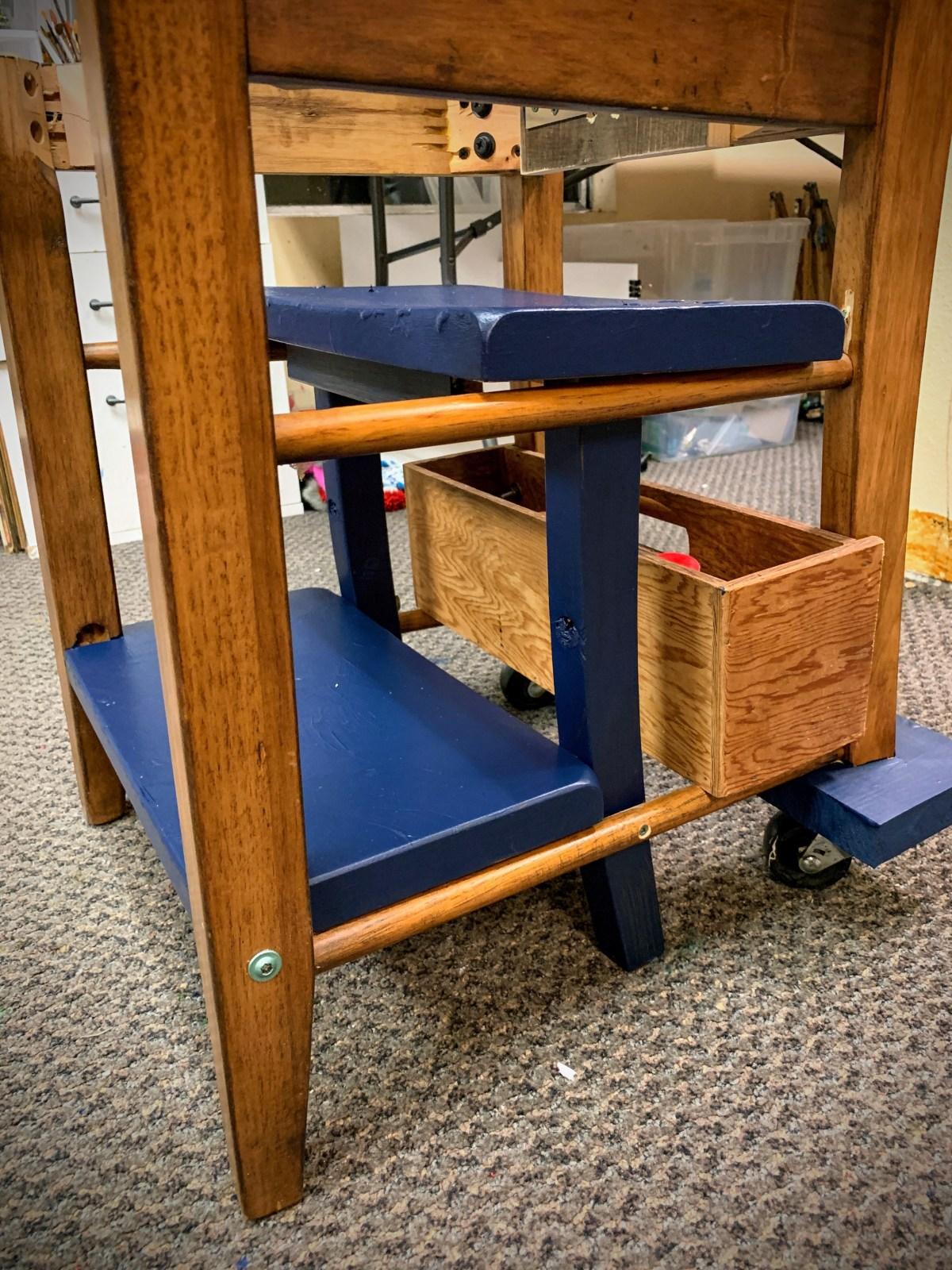 Rebuilding Project: Chair/Stepstool/ChessTable Combo | The Loaded Brush | www.loadedbrushpdx.com