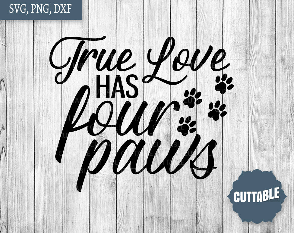 Download Dog love cut file, True love has four paws SVG, Dog SVG ...