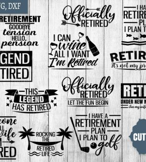 Download Retired SVG, retired under new management cut file, see my ...