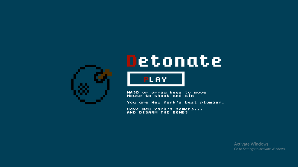 Detonate main menu