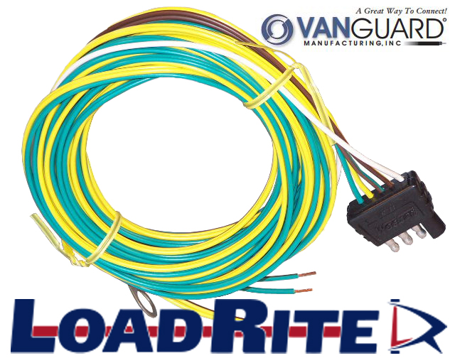 4 way trailer wiring harness – 18′