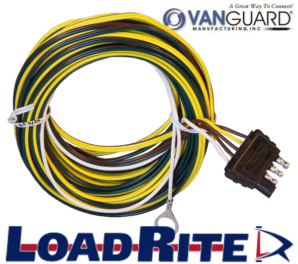 4 way trailer wiring harness – 22′