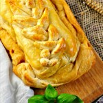 Cream Cheese with Sun Dried Tomatoes and Pesto Pastry @loavesanddishes.net