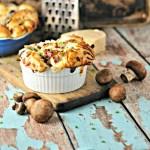 Mushroom (Bacon) Pull Apart Bread @loavesanddishes.net