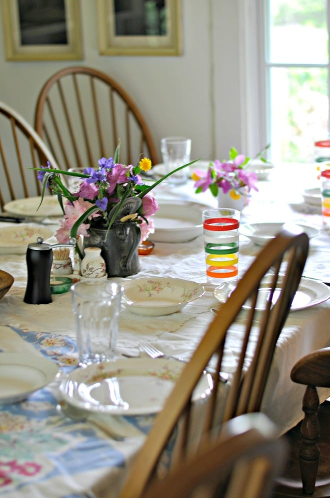 Mother's Day Table @loavesanddishes.net