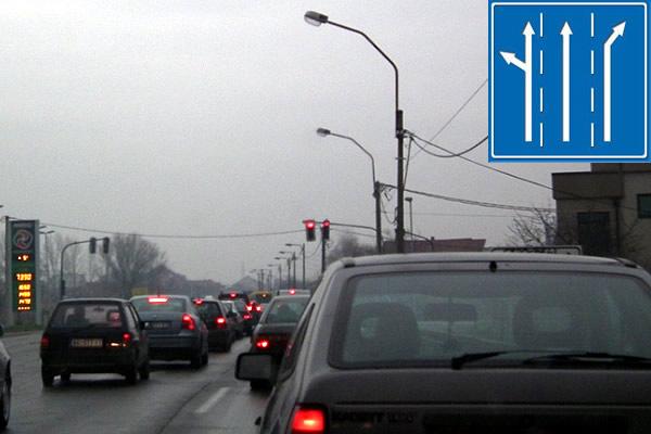 Problematična raskrsnica na Zrenjaninskom putu - skretanje za Kotež - 2015