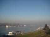 Pogled ka naseljima leve obale Beograda