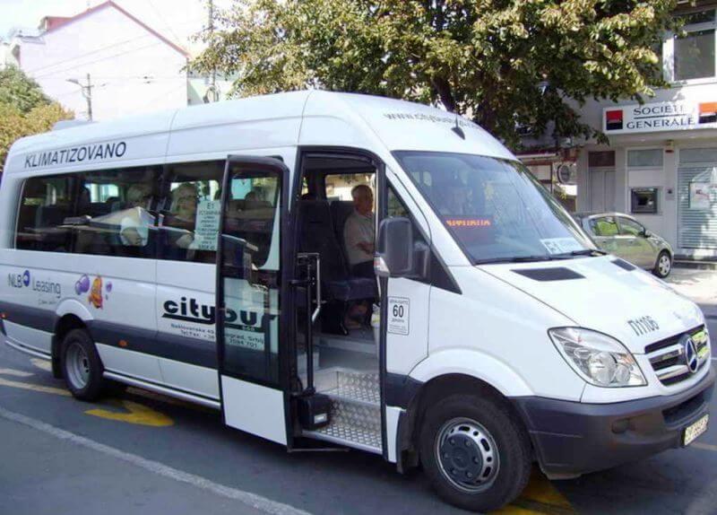 Minibus linija E7 Borča