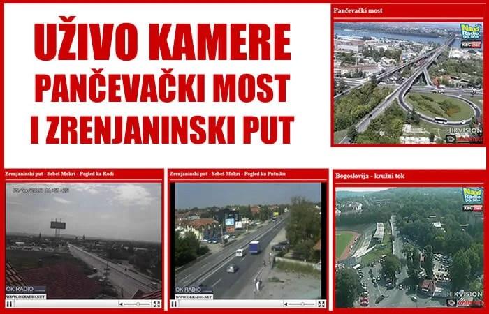 Uživo kamere Pančevački most i Zrenjaninski put