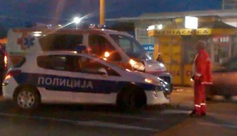 Sudar vozila policije i Hitne pomoći - Krnjača