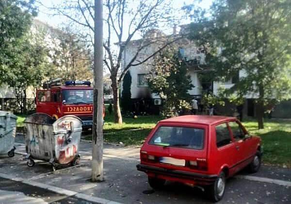 Požar u Kotežu: Izgoreo stan, žena povređena - 2014