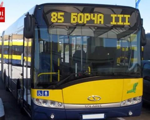 Novi red vožnje linije 85 Borča - Banovo brdo
