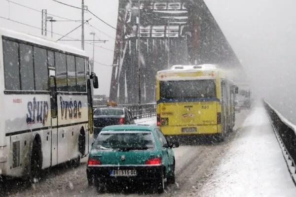 Totalni kolaps na Pančevačkom mostu zbog lančanog sudara-2015