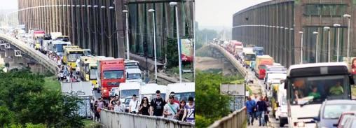 Ko barem jednom nije prešao pešaka preko Pančevačkog mosta, nije Borčanac/Borčanka :D :P — in Borca.