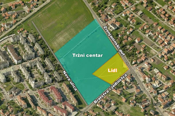 Priprema zemljista za Lidl ili TC, centar 5, LOBI 2016