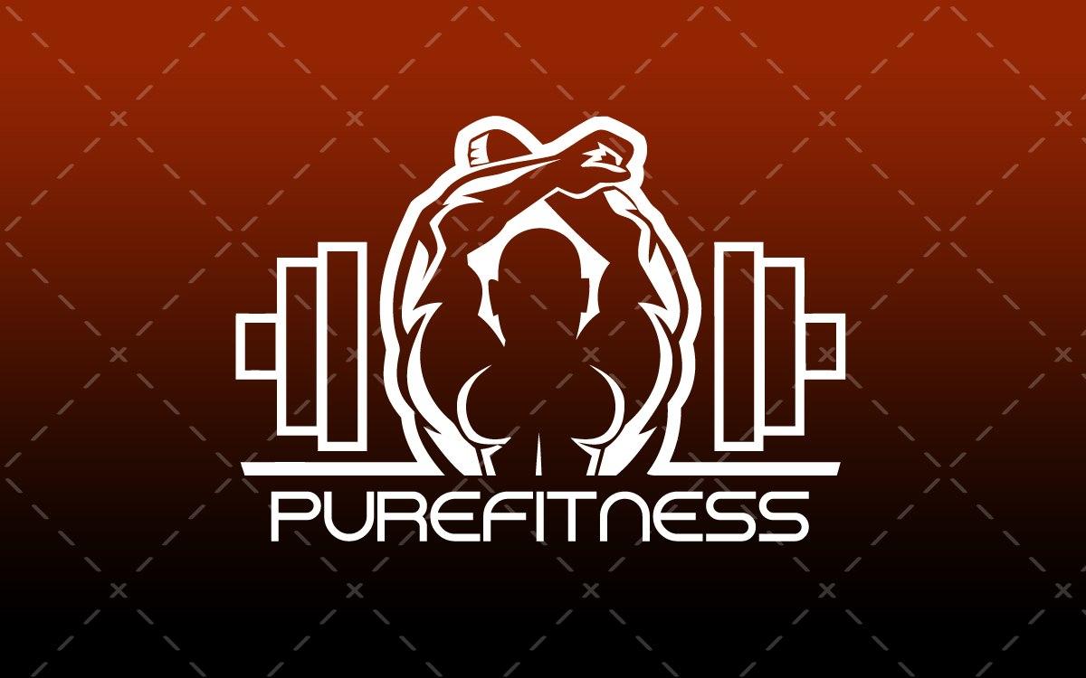 fitness gym logo for sale lobotz