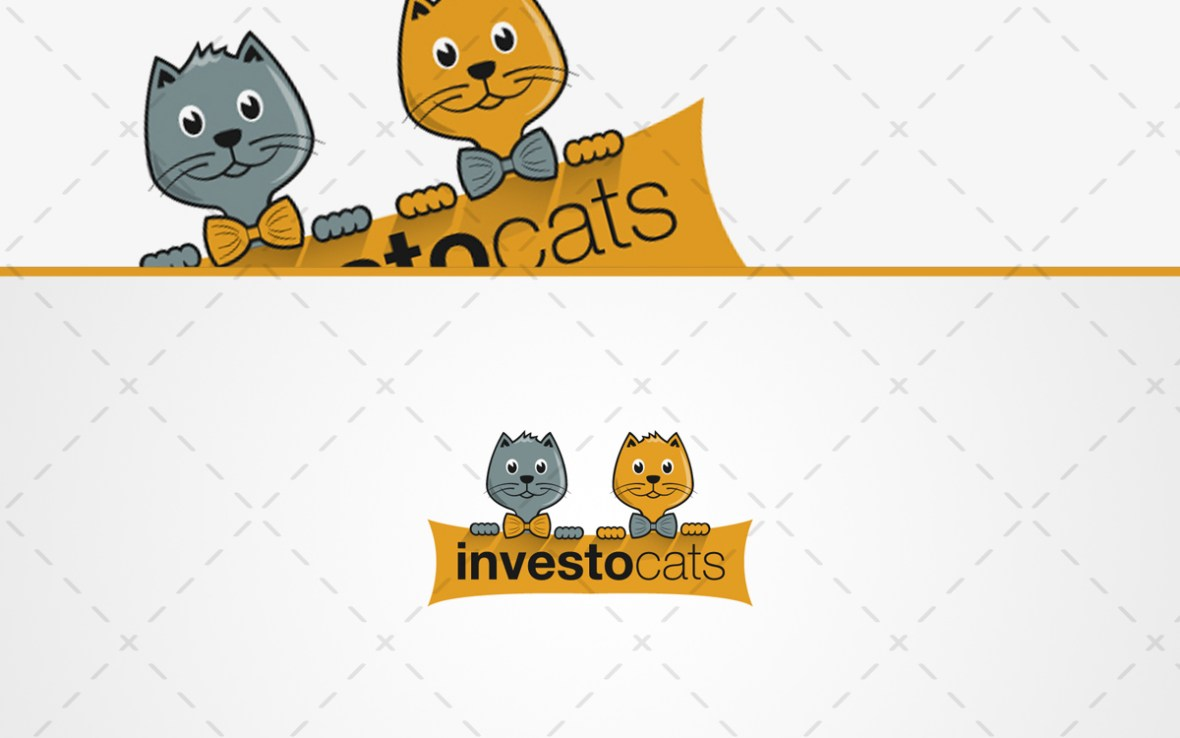 Cute Cats Logo For Sale