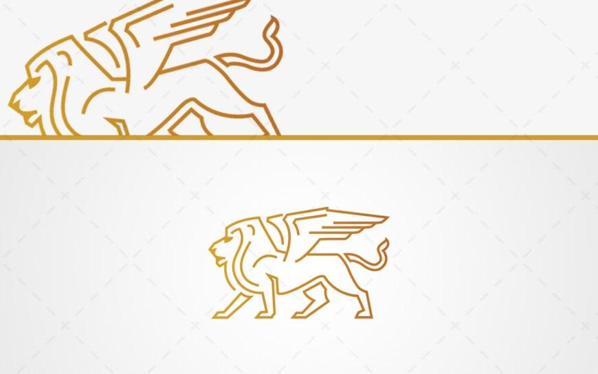 winged lion logo for sale