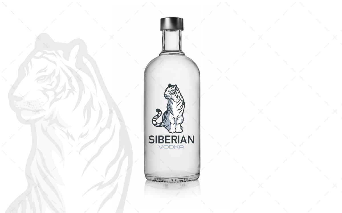 Exquisite Strong Siberian Vodka Tiger Logo For Sale  Lobotz