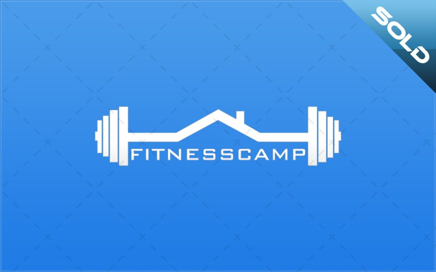 fitness boot camp dumbbell logo